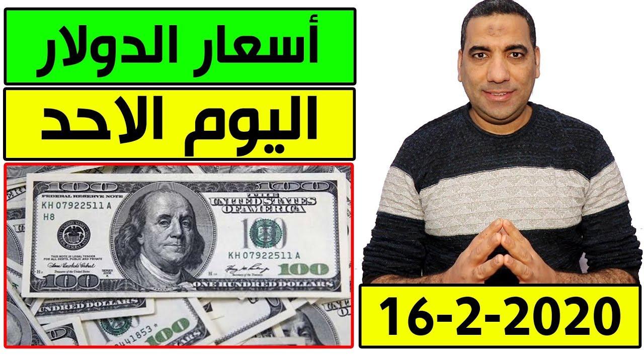 اسعار الدولار اليوم الاحد 16-2-2020 في البنوك المصرية