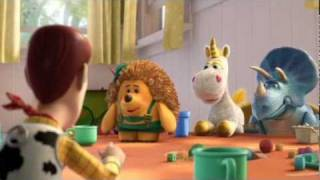 Pixar Toy Story 3 - Movie Clip: Buttercup, Mr. Pricklepants, Trixie and Woody (2010)