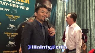 MANNY PACQUIAO LAUGHS AT ADRIEN BRONER'S