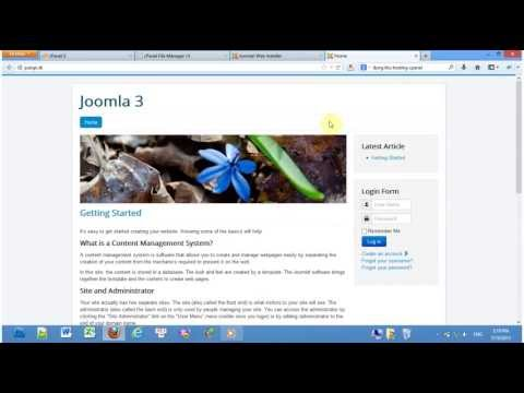 How To Install Joomla 3.1.1 Using Cpanel