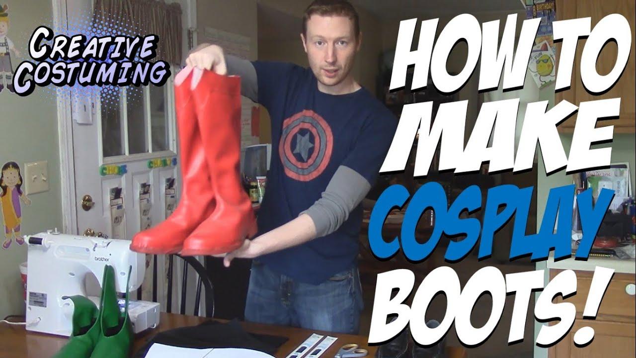 How to Make Superhero Cosplay Boots - YouTube