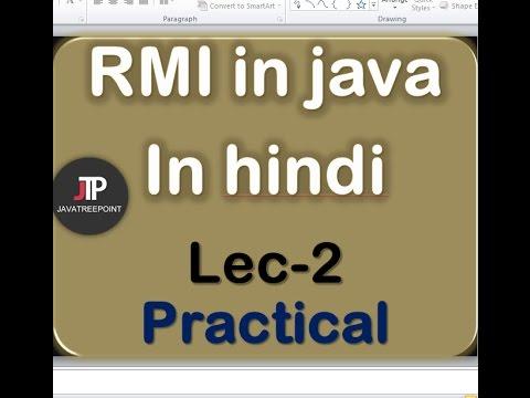RMI in java in hindi lec-2 Program in netbeans(remote method invocation)