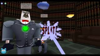 Toontown Rewritten: Lets carry a 56 laffer through the DA office!