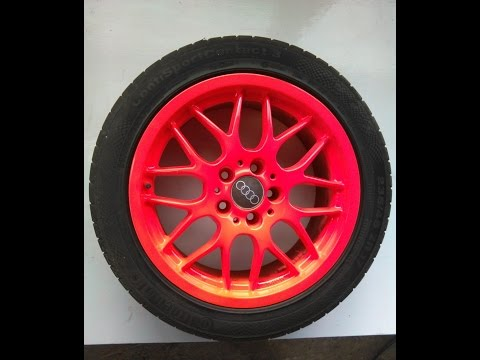 How To Paint Fluorescent Rims