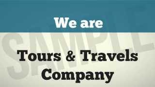 Video Presentation to market Tours and Travel Companies