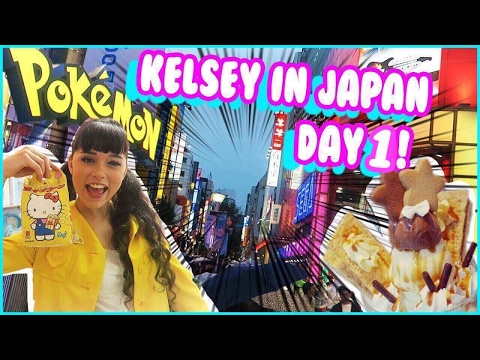 A MAGICAL ROOM & POKEMON! Japan Vlogs Day 1 | Kelsey Ellison