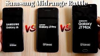Samsung Galaxy J6 Vs J7 Pro Vs J7 Max SpeedTest Comparison I Samsung Midrange Battle