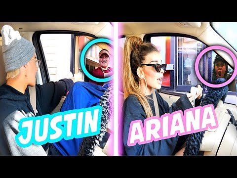 Going Through Drive Thru's Dressed as Celebrities Challenge... *it worked