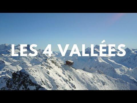 [4K] Suisse / La plus grande station de ski de Suisse (Les 4 Vallées)
