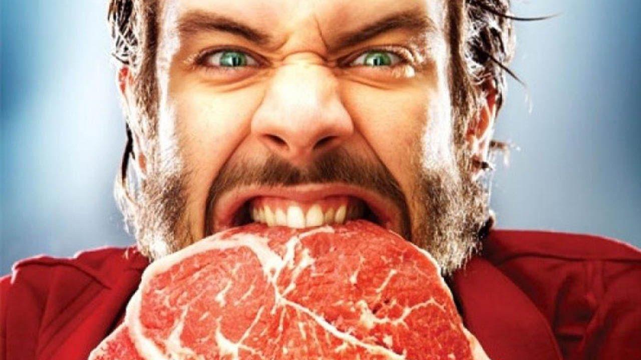 Картинки по запросу мужчина ест мясо