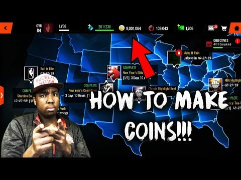 HOW YOU CAN EASILY MAKE COINS IN NBA LIVE MOBILE 18!!!