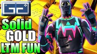 FORTNITE ((SOLID GOLD)) LTM FUN! Full Gold Load Out   Fortnite Funny Moments   Fortnite Fails