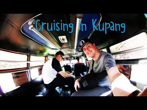 Getting around town in Kupang, Timor, Indonesia - Public Transport