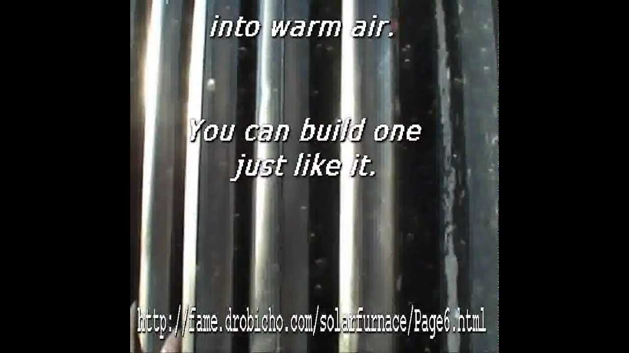 Build your own Solar Furnace - YouTube