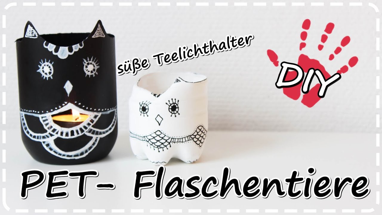 diy tiere aus pet flaschen teelichthalter vasen schmuckaufbewahrung plastic bottle vases youtube. Black Bedroom Furniture Sets. Home Design Ideas