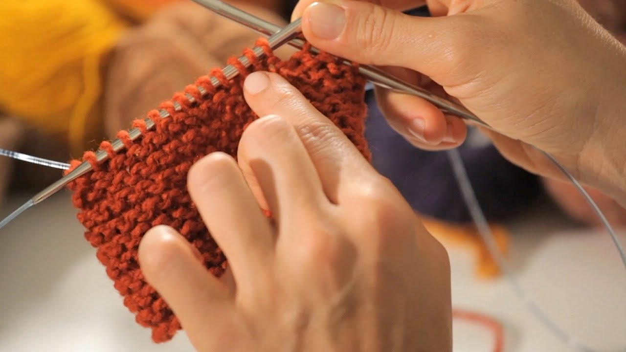 How To Do A Garter Stitch In The Round Circular Knitting Youtube
