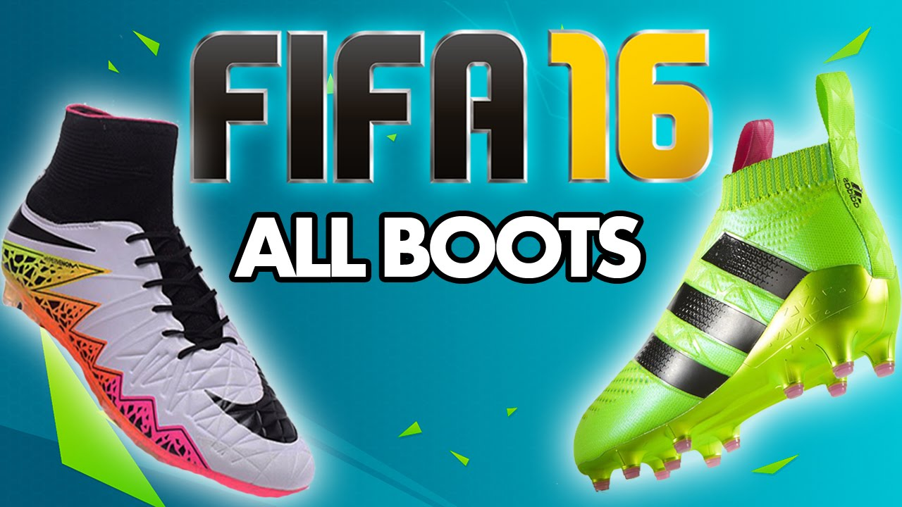 414982465 FIFA 16 - ALL NEW BOOTS (April 2016) NIKE   ADIDAS (PS4 XB1) - YouTube