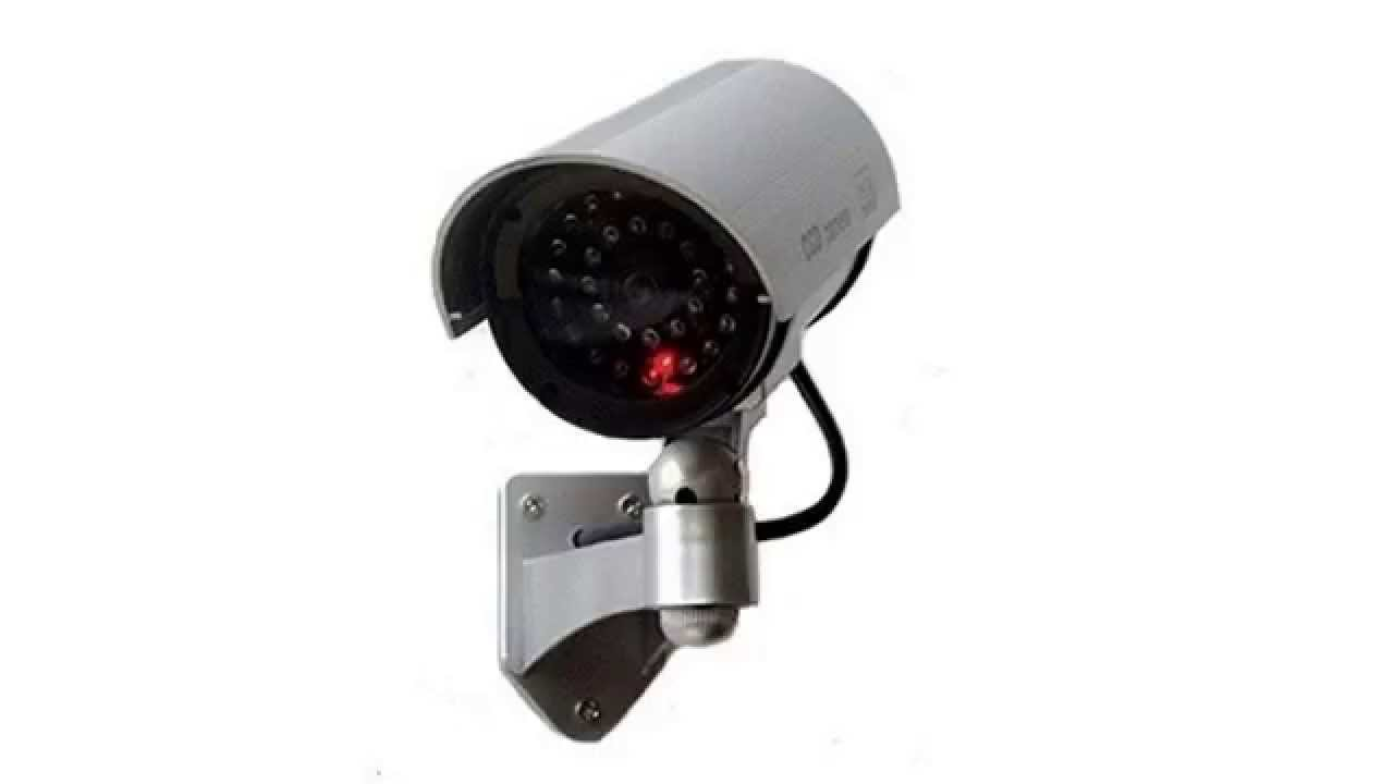 Outdoor fake dummy security camera with blinking light silver outdoor fake dummy security camera with blinking light silver aloadofball Choice Image