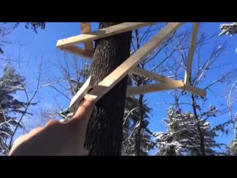 How To Build A Cheap Tree Stand Youtube