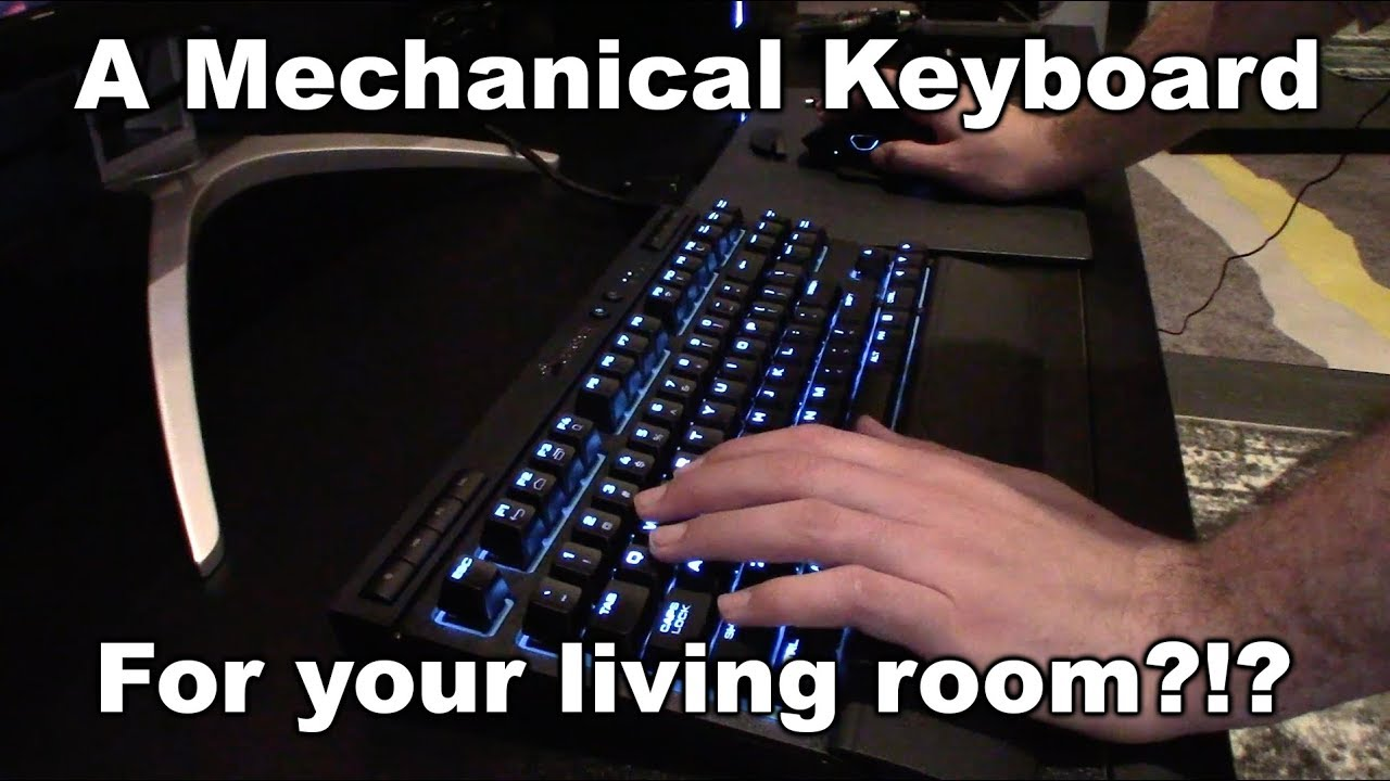 Corsair mechanical keyboard and mouse for your living for Living room keyboard and mouse