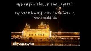 Gambar cover Tujh Mein Rab Dikhta Hai [English Translation] Lyrics