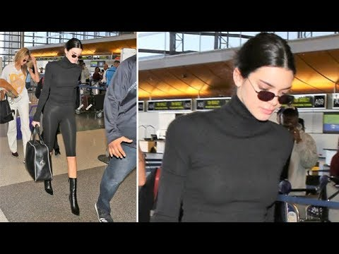 Kendall Jenner Leaves LA As Reports Sis Kylie Jenner Is Giving Birth Are Denied