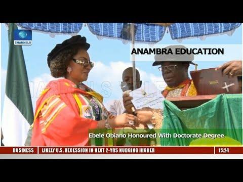 Ebele Obiano Honoured With Doctorate Degree
