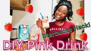 DIY STARBUCKS STRAWBERRY REFRESHER/ PINK DRINK | EASY 3 INGREDIENTS