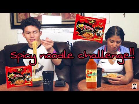 Spicy Noodle Challenge!! (VOMIT WARNING!)