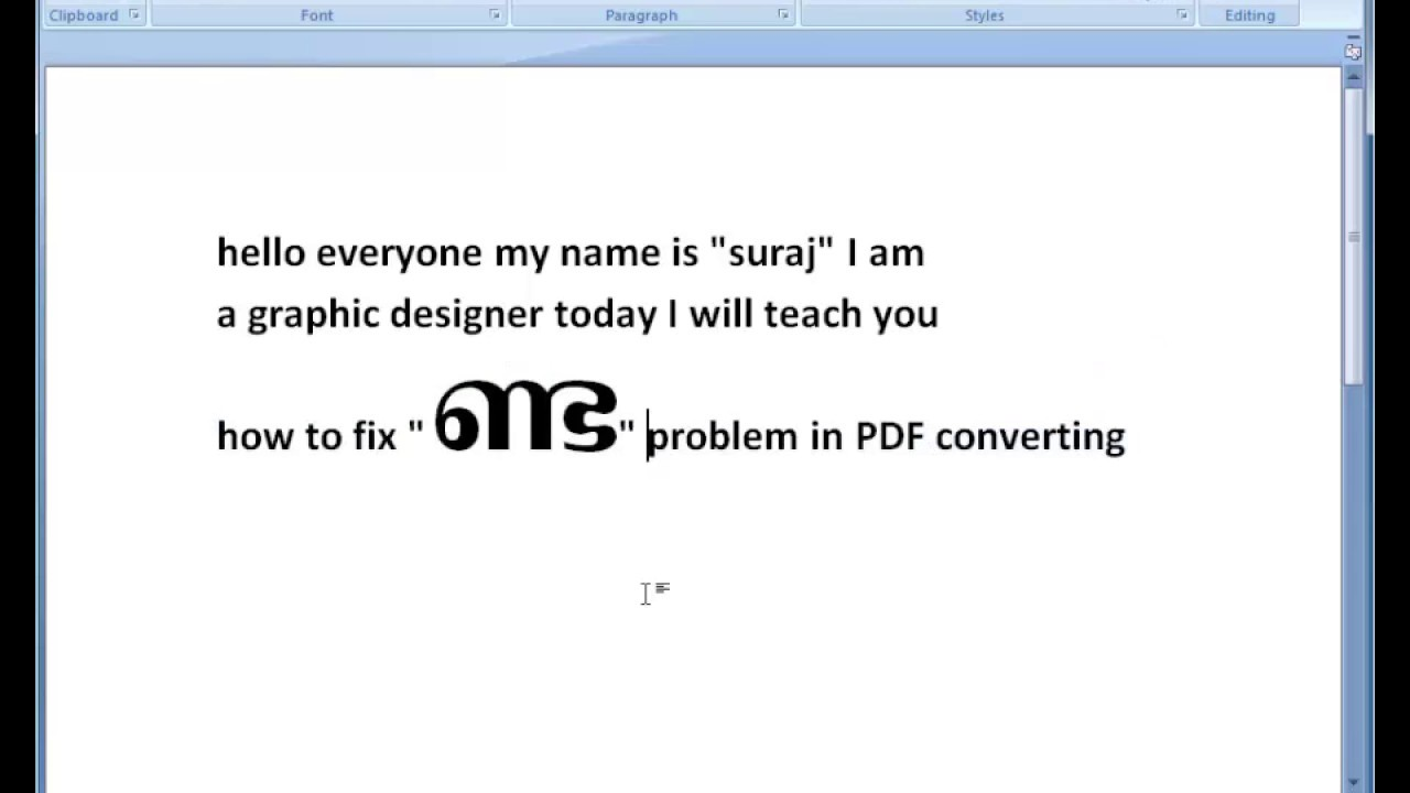 malayalam pdf problem fix