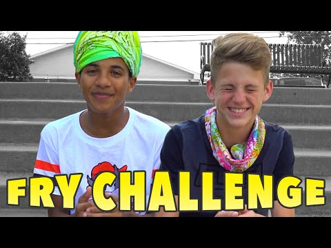 The French Fry Challenge!  (MattyBRaps vs Justin)