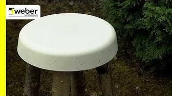 TEE SE ITSE   Rakenna itse jakkara weber white concrete Valkoisella askartelubetonilla
