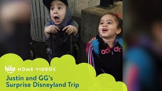 Justin And GG Surprise Disneyland Trip | Home Videos | HiHo Kids