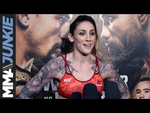 UFC 225: Megan Anderson open workout media scrum