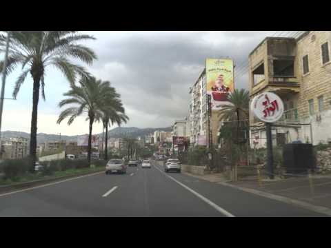 Driving: Lebanon Road Trip: From Beirut To Qnat, Bcharre, Lebanon (2016-01-25)