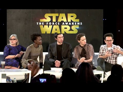 STAR WARS: THE FORCE AWAKENS Full Press Conference Part #1 (2015) Carrie Fisher