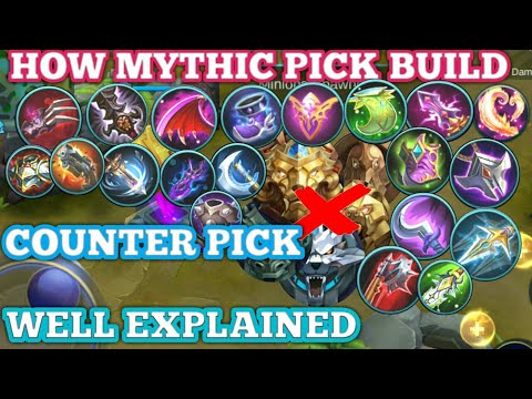 HOW MYTHIC BUILD ITEM AND NEWBIE DONT | COUNTER BUIL 101 | MOBILE LEGENDS