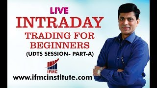 LIVE INTRADAY TRADING FOR BEGINNERS ll BASICS OF CANDLES ll UDTS SESSION 21-DEC -PART-A ll HINDI ll