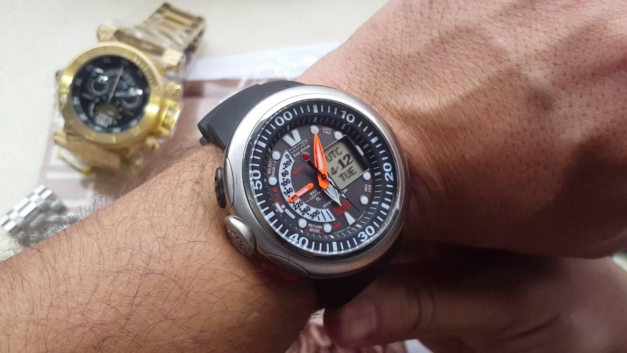 cedbd32fba4 Relógio citizen promaster Aqualand referência jv0000-28e analógico e ...