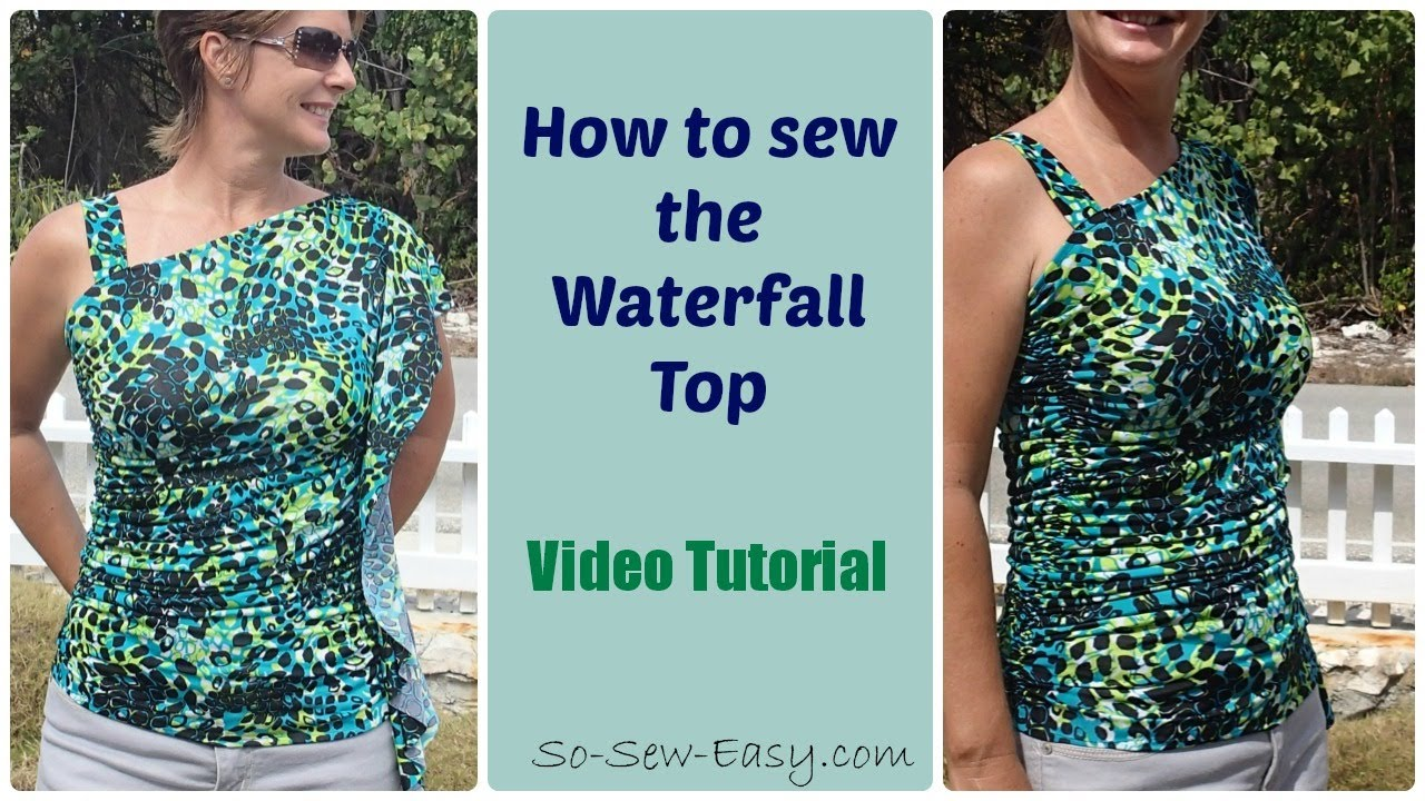 Sew a one shoulder flouncy top, free pattern - YouTube