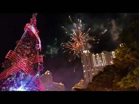 Magical Fireworks and Laser Show 2017 at CENTRAL PARK MALL JAKARTA 25/12/17 4K