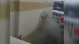 Съёмка начала пожара тц «Зимняя Вишня» Кемерово с крыши ..