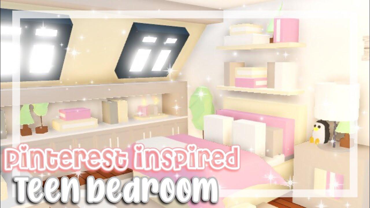 Pinterest inspired Teen Bedroom SpeedBuild / Adopt me ...