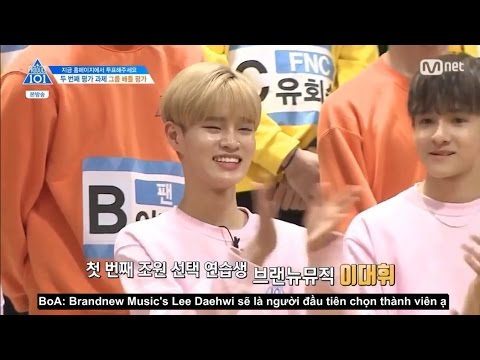 [VIETSUB] Daehwi chọn Avengers Team: Boy In Luv | Produce 101 Ep 3