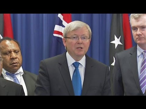 Rudd confirms asylum seekers arriving in Australia by boat to be resettled in PNG