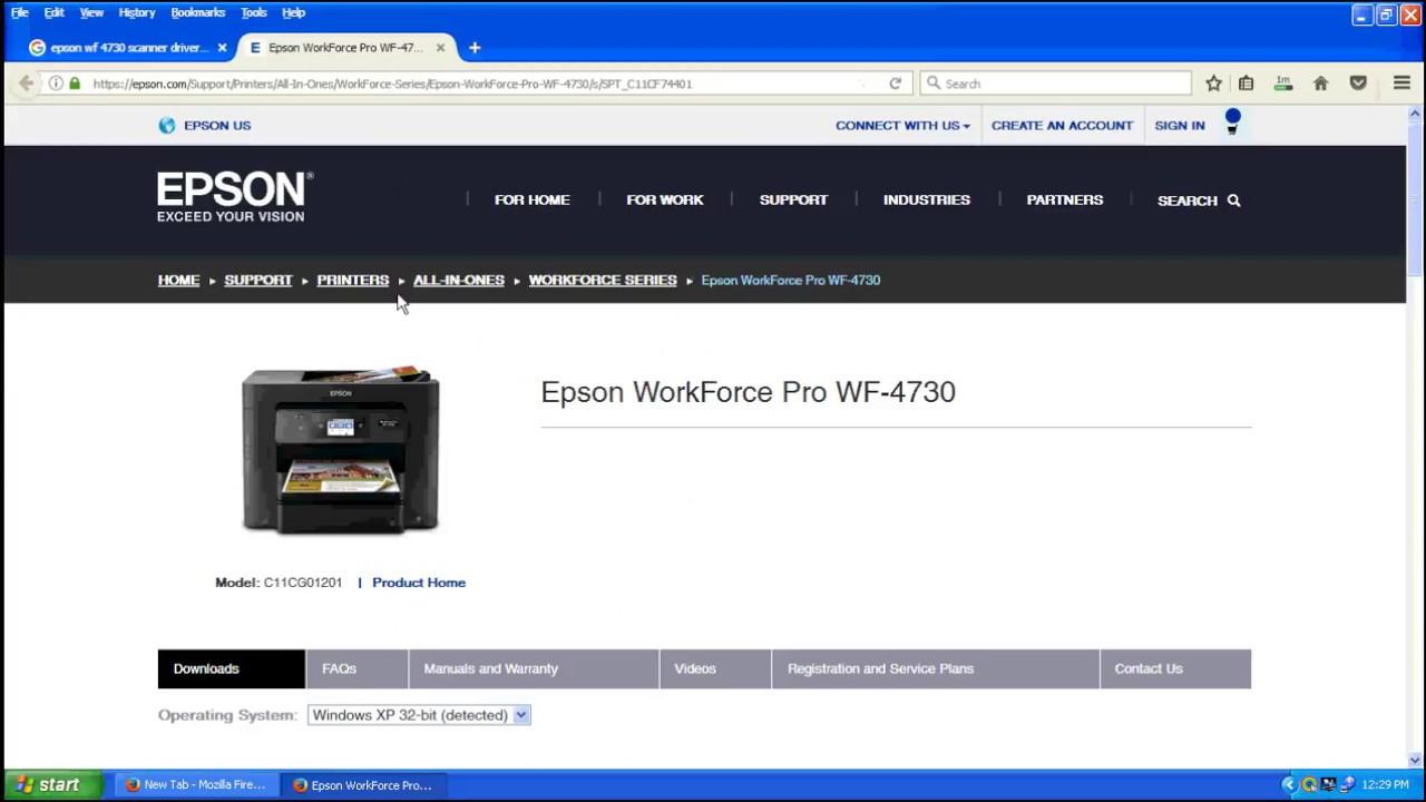 Epson WF 4730 Printer,Scanner Driver Download