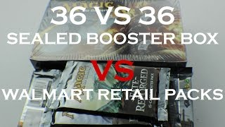 Mtg: Fate Reforged: 36 Walmart Retail Booster Packs Vs One Sealed Booster Box!