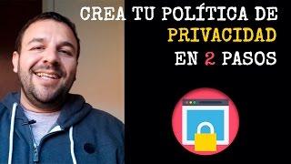 Crea una política de privacidad para tu sitio web en sólo 2 pasos.mp3