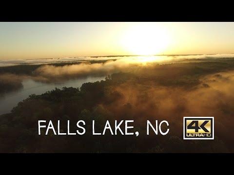 Falls Lake in Raleigh NC Beautiful Aerial Footage