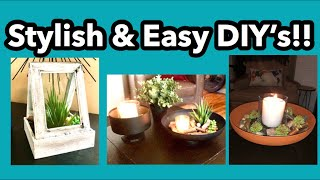 Stylish & Easy DIY Home Decor!  Super Easy Dollar Tree Projects!!!!!